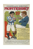 Cigarette Advertisement For Monterrey Cigarrillos Habanos Featuring Two Sportsmen Smoking. Giclee Print