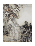 The Fair Maid Who, the First Of May, Goes To the Fields at Break Of Day Giclee Print by Arthur Rackham