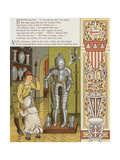 Two Children Looking at a Suit Of Armour, in the Musse De Cluny. Colour Illustration From 'Abroad' Giclee Print by Ellen Houghton