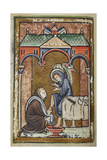St. Cuthbert Washes the Feet Of an Angel Giclee Print by  Bede