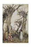 The Man in the Wilderness Giclee Print by Arthur Rackham