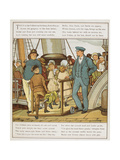 Boarding the Ship at Folkestone Harbour. Children Cross a Gangway To the Ship. Giclee Print by Thomas Crane