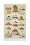 Jellies, Creams and Sweet Dishes Giclee Print by Isabella Beeton