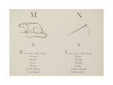 Mouse and Needle Illustrations and Verse From Nonsense Alphabets by Edward Lear. Giclee Print by Edward Lear