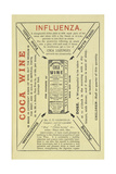 Advertisement For Coca Wine As a Health Drink Giclee Print by Isabella Beeton