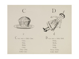 Cake and Doll Illustrations and Verses From Nonsense Alphabets Drawn and Written by Edward Lear. Giclee Print by Edward Lear