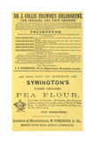 Adverts For Symington's Pea Flour and Dr. J. Collis Browne's Chlorodyne Giclee Print by Isabella Beeton