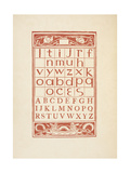 A Chart Showing Letters Of the Alphabet. the Golden Primer Giclee Print by Walter Crane