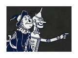 The Scarecrow and the Tin Woodman Giclee Print by William Denslow