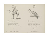 Camel and Dove Illustrations and Verse From Nonsense Alphabets by Edward Lear. Giclee Print by Edward Lear