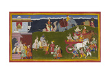 Rama and Lakshmana Embrace Giclee Print