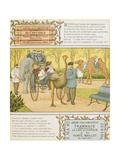 Jardin D'acclimatation. Children at a Zoo in Paris. an Elephant, an Ostrich and a Camel Giclee Print by Ellen Houghton