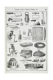 Utensils Used in Making Pastry, Including Various Knives, Moulds and Tins Giclee Print by Isabella Beeton