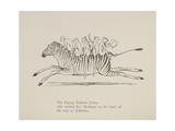 Monkeys Riding a Zebra, Nonsense Botany Animals and Other Poems Written and Drawn by Edward Lear Lámina giclée por Lear, Edward