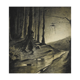 The War Of the Worlds Giclee Print by Henrique Alvim-Correa