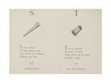 Screw and Thimble Illustrations and Verse From Nonsense Alphabets by Edward Lear. Giclee Print by Edward Lear