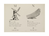 Mill and Net Illustrations and Verse From Nonsense Alphabets by Edward Lear. Giclee Print by Edward Lear