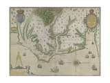 White-De Bry Map Of Virginia Giclee Print by John White