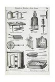 Utensils For Broiling - Meat Screen, Including Various Grills Giclee Print by Isabella Beeton