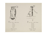 Owl and Pump Illustrations and Verses From Nonsense Alphabets Drawn and Written by Edward Lear. Gicléedruk van Lear, Edward