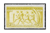 A Group Of Athletes Running. Greece 1906 Olympic Games 3 Drachma, Unused Giclee Print