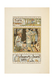 Rhyming Words Ending in 'N'. an Illustration, Showing Possibly, King Alfred and the Burning Cakes Giclee Print by Walter Crane