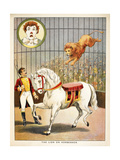 The Lion On Horseback'. a Lion Tamer, Horse and Lion, in a Circus Act Lámina giclée