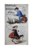 A Boy Fishing. a Girl Skipping. Illustration Giclee Print by Eleanor Fenn
