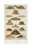 Supper Dishes. Meat and Fish Dishes Giclee Print by Isabella Beeton