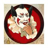A Pensive Clown. Giclee Print