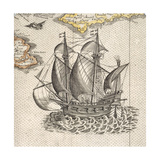 English Ship Giclee Print