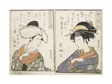 Kabuki Actors Giclee Print by Kitagawa Utamaro