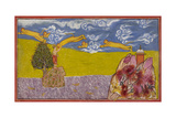 Hanuman Leaps Across the Ocean Giclee Print
