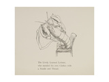 Lobster Mending Clothes, Nonsense Botany Animals and Other Poems Written and Drawn by Edward Lear Giclée-Druck von Edward Lear