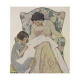 Sewing Giclee Print by Jessie Willcox-Smith