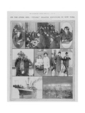 "On the Other Side: Titanic"" Disaster Survivors in New York."" Giclee Print"