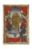 The Dying Boisil Instructs St. Cuthbert, and Prophesies Things Which Were To Come To Him Giclee Print by  Bede