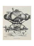 A Flying Casino Supported by Air Ballons and Other Air Machines Giclee Print by Albert Robida
