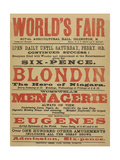 World's Fair, Royal Agricultural Hall, Islington, N. Continued Success! Giclee Print