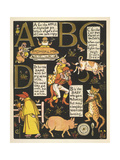 The Absurd ABC Giclee Print by Walter Crane