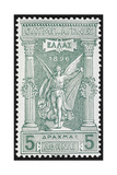 Victory. Greece 1896 Olympic Games 5 Drachma, Unused Giclee Print