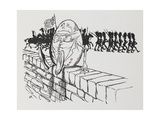 Humpty Dumpty Sat On a Wall Giclee Print by Arthur Rackham