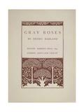 Gray Roses Giclee Print by Aubrey Beardsley