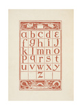 An Alphabet Table For 'The Golden Primer' Giclee Print by Walter Crane
