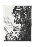 A Large Man Eating a Tiny Lady and Her House Giclee Print by Arthur Rackham