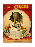 An Amusing Cover Showing an Elephant Taking a Meal From Two Clowns - Giclee Baskı