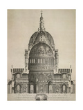 St. Paul's Cathedral Giclee Print by E. Rooker