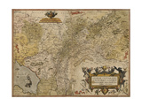 Map Of Gelderland and Cleves Giclee Print by Christian Sgrooten