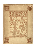 Inside Cover Of 'The Golden Primer' Giclee Print by Walter Crane