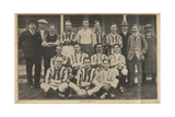 Epsom Town Football Club. Photograph Of Players and Staff Giclee Print